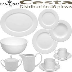 Vajilla 46 piezas con Tazas Café y Té Vista Alegre CESTA