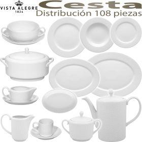 Vajilla + Café + Consomé 108 piezas (12 servicios) Vista Alegre CESTA