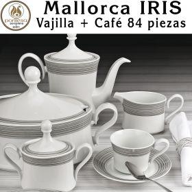Vajilla con Café IRIS Mallorca Santa Clara Pontesa 84 piezas