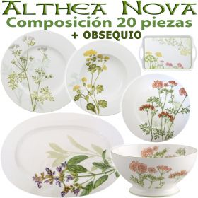 Vajilla 20 piezas Villeroy & Boch ALTHEA NOVA Flores + OBSEQUIO