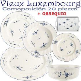 Vajilla 20 piezas Villeroy & Boch ALT VIEUX LUXEMBURG + OBSEQUIO
