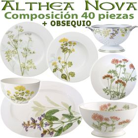 Vajilla 40 piezas Villeroy & Boch ALTHEA NOVA Flores + OBSEQUIO