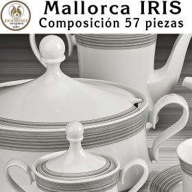 Vajilla completa 57 piezas Santa Clara Pontesa Mallorca IRIS