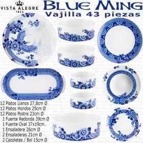 BLUE MING Vajillas Vista Alegre porcelana blanca
