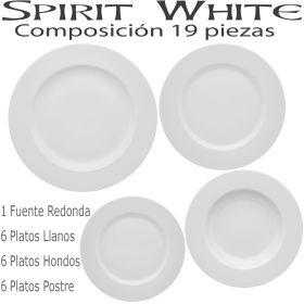 Vajilla SPIRIT BLANCO White 19 piezas Vista Alegre