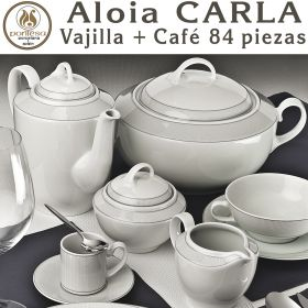 Vajilla + Juego Café 84 piezas Pontesa / Santa Clara Aloia CARLA