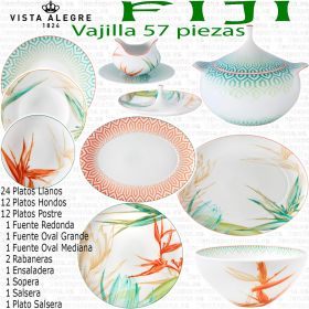 VAJILLA VISTA ALEGRE FIJI Porcelana 57 piezas