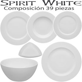 Vajillas Vista Alegre SPIRIT BLANCO White 39 piezas