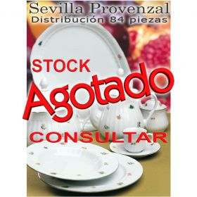Vajilla + Café Santa Clara 84 piezas (12 servicios) Sevilla Provenzal Flores
