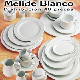 Vajilla 40 piezas Pontesa / Santa Clara Melide Blanco