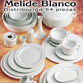 Vajilla 54 piezas Pontesa / Santa Clara Melide Blanco