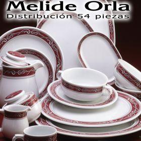 Vajilla 54 piezas Pontesa / Santa Clara Melide Orla