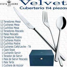 VELVET Vista Alegre Cuberterias 114 piezas completa acero inox 18/10