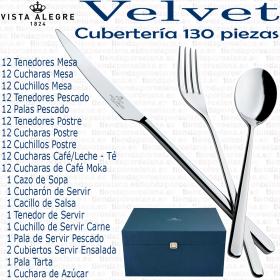 Cuberteria Vista Alegre 130 piezas colección VELVET