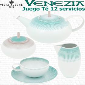 VENEZIA Vista Alegre Juego de Té 12 servicios (27 piezas)