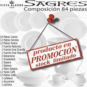 Sagres Vista Alegre Vajilla con servicio Café 84 piezas