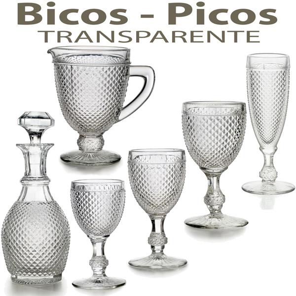 Cristalería de Vidrio Vista Alegre Atlantis Bicos Picos Transparente