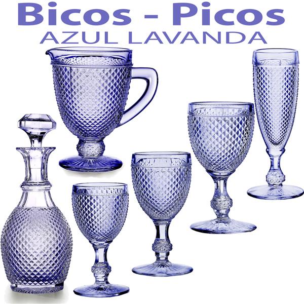 Cristalería de Vidrio Vista Alegre Atlantis Bicos Picos Lavanda