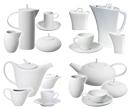 Juegos de Café y Té Blancos para uso diario o fiestas