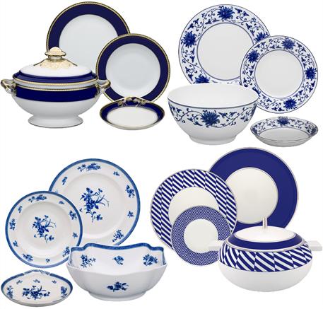 Vajillas elegantes azul cobalto vajillas cl sicas rebajas for Vajillas elegantes