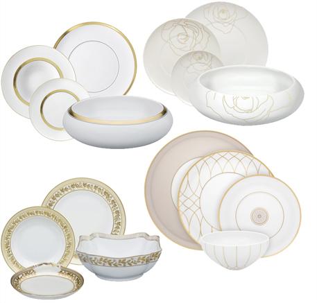 vajillas de porcelana decoradas con oro vajillas elegantes