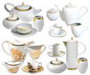 Juegos de Café y Té decorados en Oro regalo de bodas y ocasional