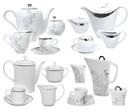 Juegos de Café y Té decorados en Plata - Platino regalo de bodas y ocasional