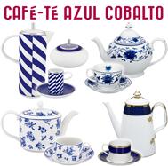 Juegos de Café y Té Decoración Azul Cobalto