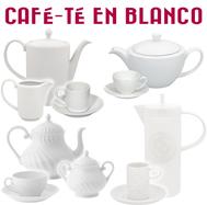 Juegos de Café y Té en Blanco