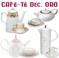Juegos de Café y Té Decoración Oro