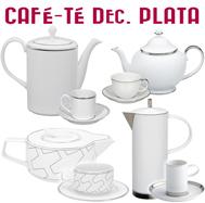 Juegos de Café y Té Decoración Plata / Platino