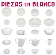 Platos y otras Piezas Blancos
