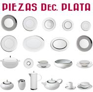 Platos y otras Piezas Decoración Plata / Platino