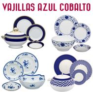 Vajillas Decoradas en Azul Cobalto