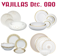 Vajillas Decoración en Oro