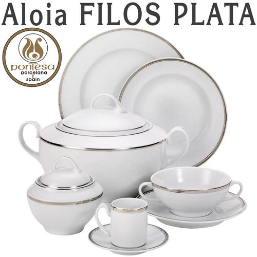 Vajillas Pontesa Santa Clara Aloia Filos Plata servicios de mesa menaje Hogar