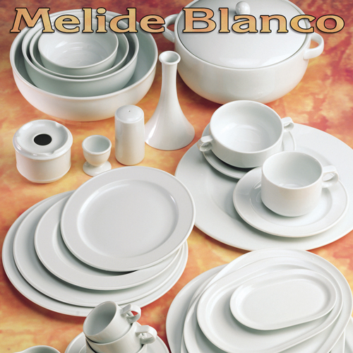 Vajillas Pontesa Santa Clara Porcelana Melide Blanco menaje Hogar y Hostelería