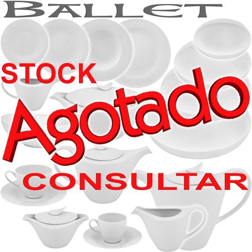 Vajillas Porcel Porcelanas Ballet Blanco uso diario personalizable con iniciales, logotipo o marca de empresa