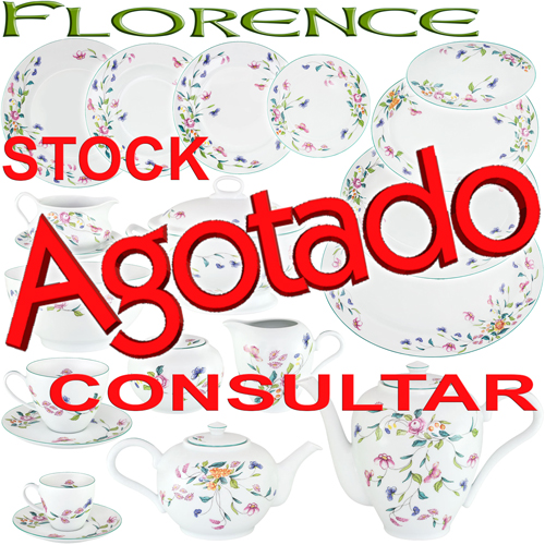 Vajillas Porcel Porcelana Florence Flores Vintage