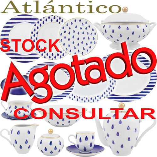 Vajillas Porcel Atlántico Porcelana diseño Azul Cobalto y Oro