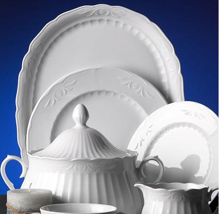 Logo Vajillas Porcelana Santa Clara Sevilla Blanco