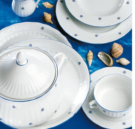 Logo Vajillas Porcelana Santa Clara Sevilla Mina Flores Azules