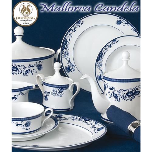 Vajillas Santa Clara Porcelana Mallorca Candela Flores Azules