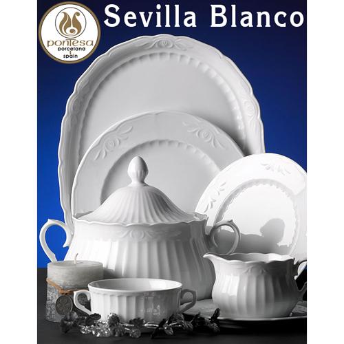 Vajillas Santa Clara Porcelana Sevilla Blanco