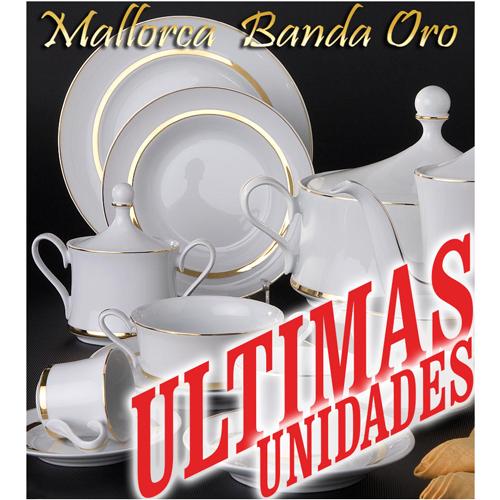 Vajillas Santa Clara Porcelana Mallorca Banda Oro