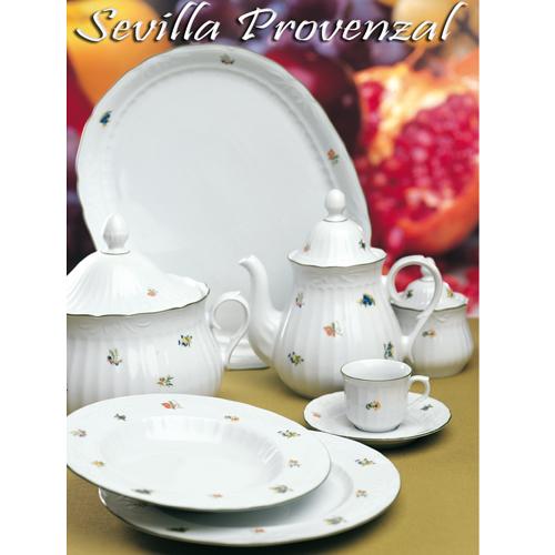 Vajillas Santa Clara Porcelana Sevilla Provenzal servicio de mesa flores