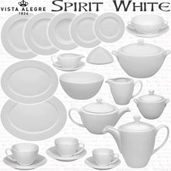 Vajilla Servicios de Cafe y Te y Juegos Consomé Vista Alegre Spirit Blanco White