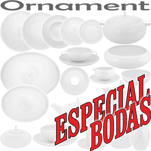Platos Llanos, Sopera, Cafetera, Vista Alegre Domo Ornament